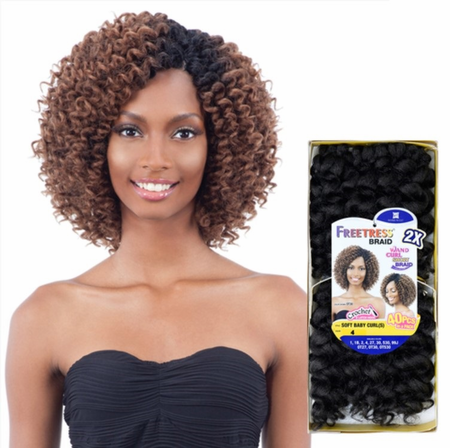 FreeTress 2X Soft Baby Curl (Small) Braids Synthetic