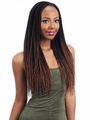 """FreeTress Pre-Feathered Box Braid (81 Strands) 18"""" Crochet Braid Synthetic"""