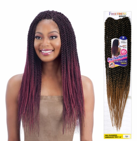 FreeTress Pre-Feathered Senegalese Twist (81 Strands) 18