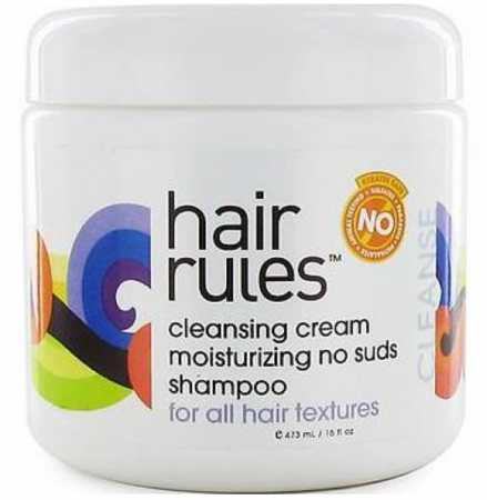 Hair Rules Cleansing Cream Moisturizing No Suds Shampoo 16.5oz