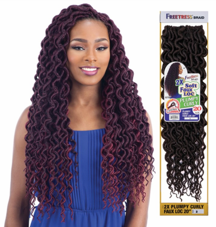FreeTress 2X Soft Plumpy Curly Faux Loc 20
