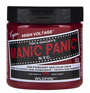 Manic Panic Semi-Permanent Hair Color Cream Wildfire 4 oz