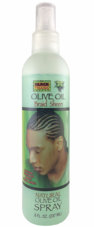 Black Thang Olive Oil Braid Sheen Spray For Men 8 oz