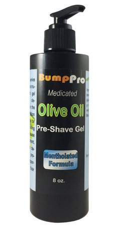 BumpPro Olive Oil Shave Gel Mentholated 8 oz