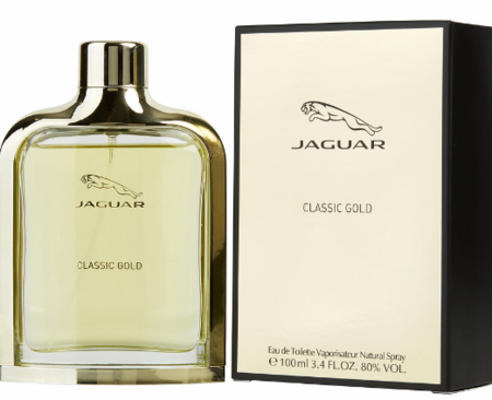 Jaguar Classic Gold by Jaguar Fragrance for Men Eau de Toilette Spray 3.4 oz 2018