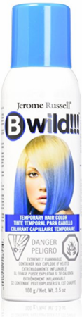 Jerome Russell BWild!! Temporary Color Spray Bengal Blue 3.5 oz