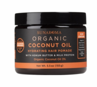 Sunaroma Organic Coconut Oil Hair Pomade 5.5 oz Jar