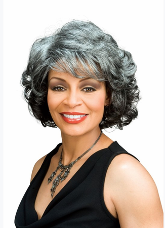 Foxy Silver Barbara Wig Synthetic