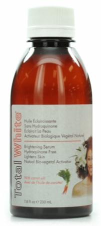 Total White Hydroquinone Free Brightening Serum with Carrot Oil 7.8 oz