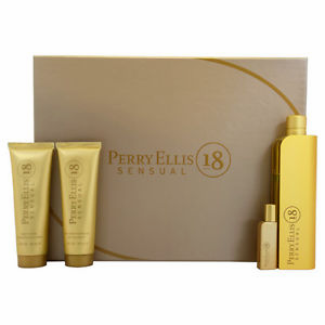 Perry Ellis 18 Sensual By Perry Ellis For Women 4 Piece Fragrance Gift Set 2018