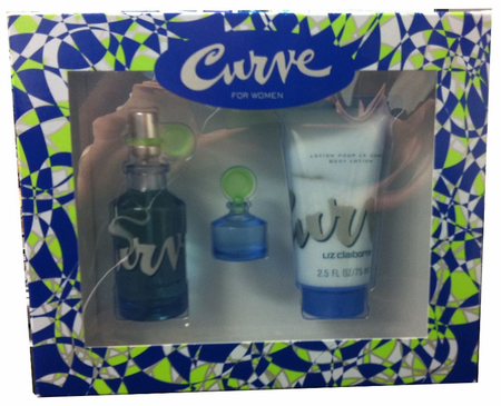 Curve By Liz Claiborne For Women 3 Piece Fragrance Gift Set 2018