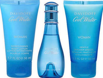 Cool Water Woman By Davidoff For Women 3 Piece Fragrance Gift Set 2018