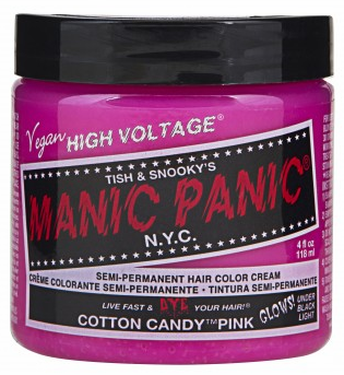 Manic Panic Semi-Permanent Hair Color Cream Cotton Candy Pink 4 oz