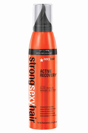 Sexy Hair Strong Active Recovery Repairing Blow Dry Foam 6.8 oz