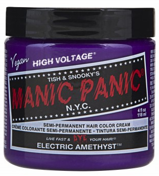 Manic Panic Semi-Permanent Hair Color Cream Electric Amethyst 4 oz