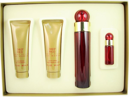 360 Red By Perry Ellis For Women 4 Piece Fragrance Gifts Set 2018