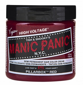 Manic Panic Semi-Permanent Hair Color Cream Pillarbox Red 4 oz