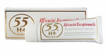 55 H+ Exceptionnel Strong Bleaching Treatment Cream 50ml / 1.7 oz