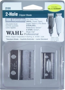 WAHL 2 Hole Adjustable Clipper Replacement Blade set 2191