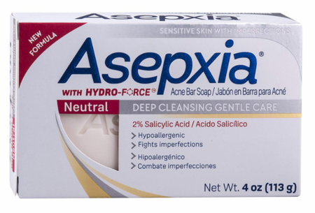 Asepxia Neutral Acne Soap Bar / Deep Cleansing Gentle Care 4 oz
