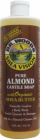 Dr.Woods Pure Almond Castile Soap With Shea Butter 16 oz
