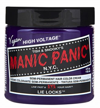 Manic Panic Semi-Permanent Hair Color Cream Lie Locks 4 oz