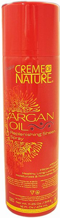 Creme Of Nature Argan Oil Replenishing Sheen Spray 11.25 oz