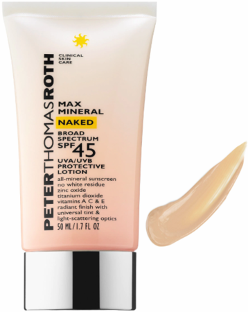 Peter Thomas Roth Max Mineral Naked Broad Spectrum SPF 45 Lotion 1.7 oz 2019