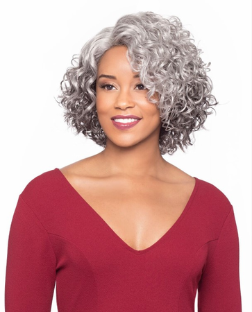 Foxy Silver Martina J Lace Wig Synthetic New 2019