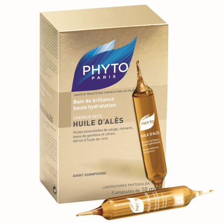 Phyto Huile D'Ales Intense Hydrating Oil Treatment 5 ampoules 0.33 oz