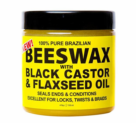 Eco Style 100% Pure Brazilian Beeswax with Black Castor & Flaxseed Oil 4 oz