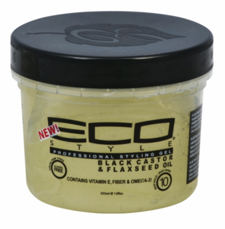 Eco Style Black Castor & Flaxseed Oil Styling Gel 12 oz