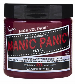 Manic Panic Semi-Permanent Hair Color Cream Vampire Red 4 oz