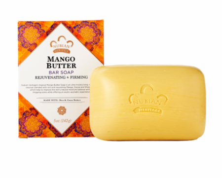 Nubian Heritage Mango Butter Soap with Shea & Cocoa Butter 5 oz