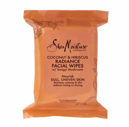 Shea Moisture Coconut & Hibiscus Radiance Cleansing Facial Wipes 30 Count