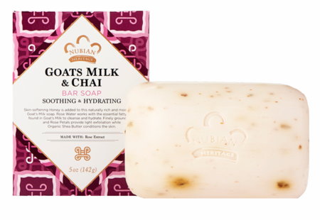 Nubian Heritage Goat's Milk & Chai Soap With Rose Extract 5 oz