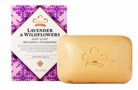 Nubian Heritage Shea Butter Soap with Lavender & Wildflowers 5 oz