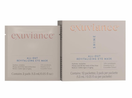 Exuviance All-Out Revitalizing Eye Mask 12 Packets
