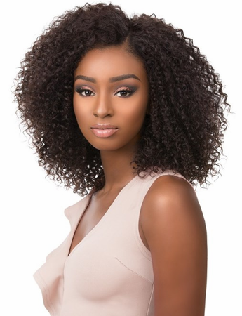 Sensationnel Bare & Natural 4 x 4 Bohemian Brazilian Swiss Lace Front Wig Human Hair