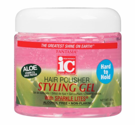 Fantasia IC Hair Polisher Styling Gel Pink Hard To Hold 16 oz