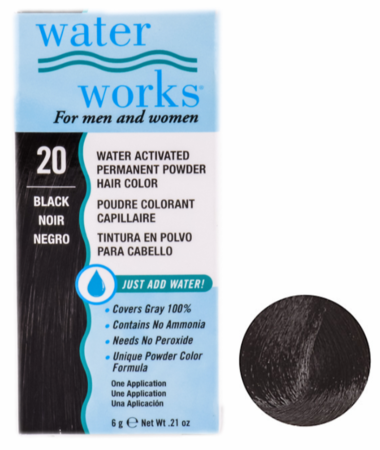 Water Works Powder Hair Color Black 20