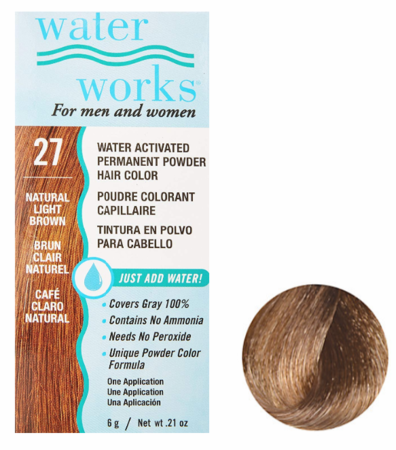Water Works Powder Hair Color Natural Light Brown 27