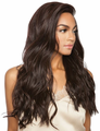 """Mane Concept Melanin Queen Natural Wave 24"""" Lace Front Wig Human Hair"""