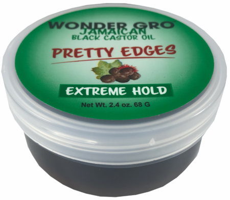 Wonder Gro Jamaican Black Castor Oil Pretty Edges Extreme Hold 2.4oz
