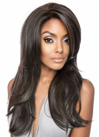 Mane Concept Brown Sugar BSF01 Frontal Lace Front Wig Human Hair New 2019