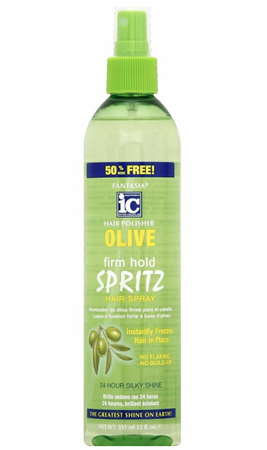 Fantasia IC Hair Polisher Olive Firm Hold Spritz 12 oz