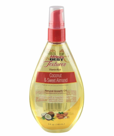 Africa's Best Textures Coconut & Sweet Almond Natural Growth Oil 5 oz