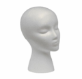 Wig Foam Head Female Face White