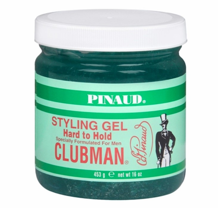 Clubman Pinaud Hard to Hold Styling Gel, Jar  16 oz
