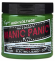 Manic Panic Semi-Permanent Hair Color Cream Electric Lizard 4 oz